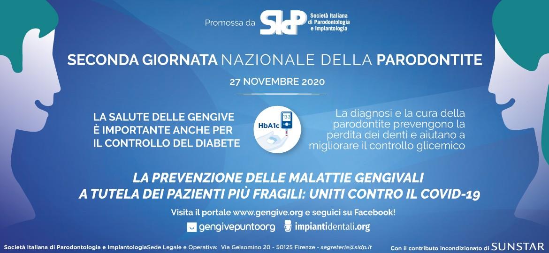 locandina seconda giornata nazionale della parodontite 2020
